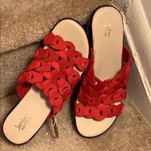 Jambu NWOT Red Woven Sandals Size 10